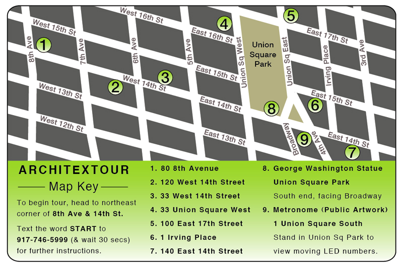 Architextour Map