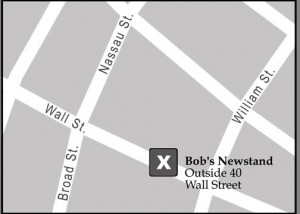 Start Curb Exchange tour at newsstand outside of 40 Wall Street
